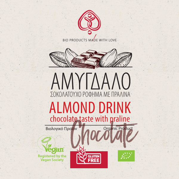 Almond Drink Chocolate Taste with Praline 500 ml
